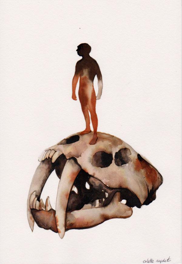 Voleur de feu 10, entrer dans la caverne, Mylene Mouton, Colette Reydet, Collection, numéroté 10
